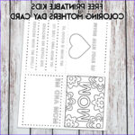 Mothers Day Coloring Card Luxury Collection Free Printable Kids Mother S Day Card Coloring Page