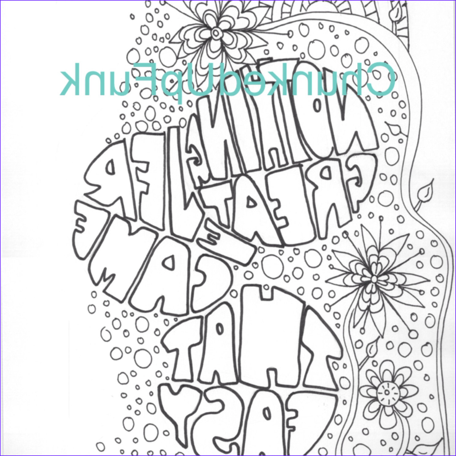 Printable Coloring Page Inspirational Art Motivational