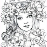 Nicky Coloring Book Unique Collection Lady Spring Mariola Budek Premium Coloring Page