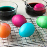 Painting With Food Coloring Cool Photos Easter Eggs