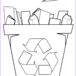 Paper Coloring Elegant Image Paper Recycling Bin Coloring Page