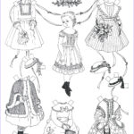 Paper Coloring Elegant Images Free Printable Paper Doll Coloring Pages For Kids