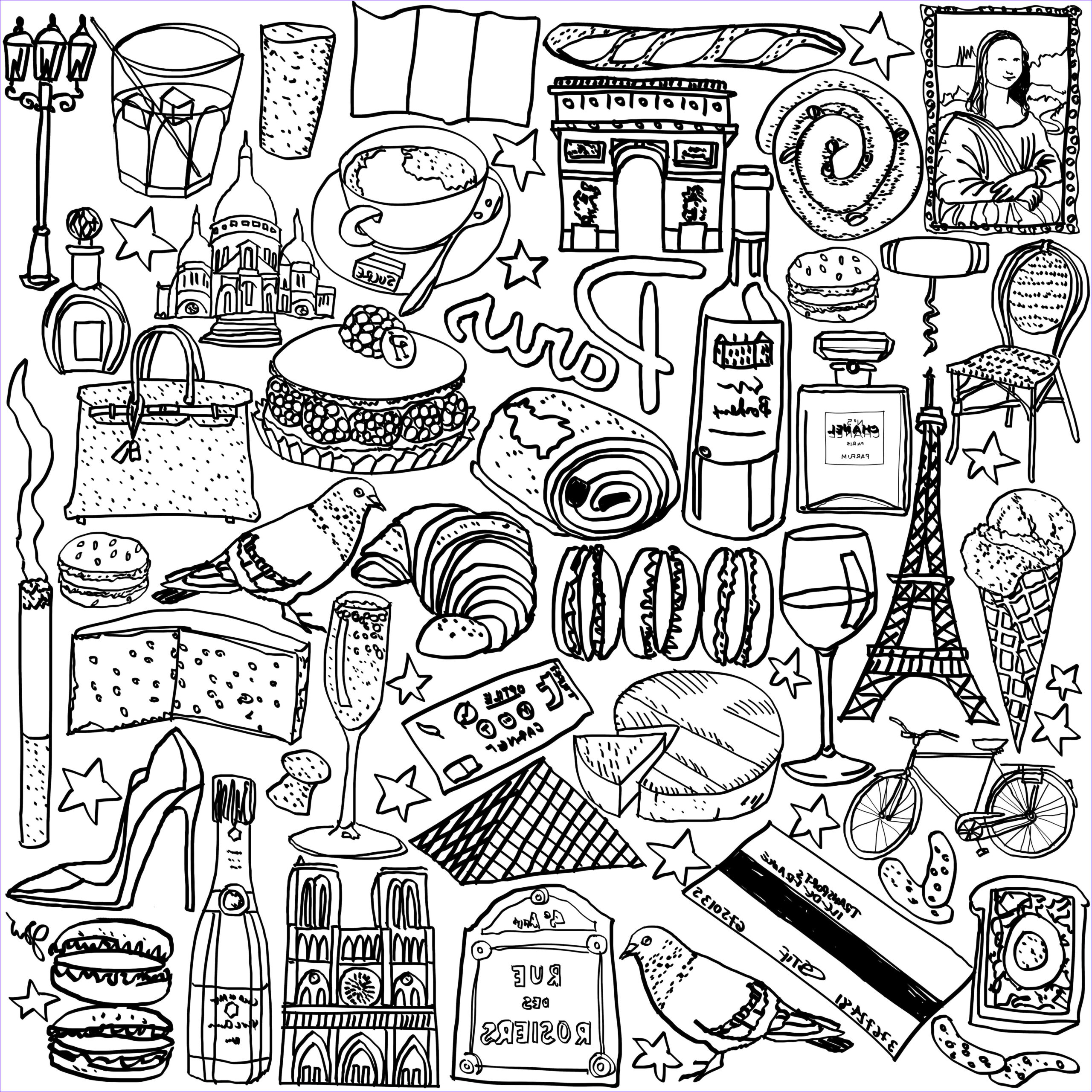 Paris Coloring Books Best Of Photography Paris Coloring Page Show Your French Love by Jessie