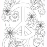 Peace Coloring Pages Beautiful Image Simple And Attractive Free Printable Peace Sign Coloring