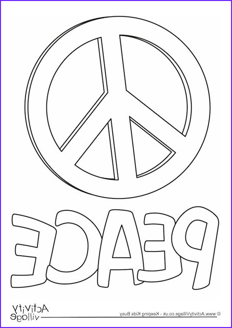 Peace Coloring Pages Beautiful Photos Peace Colouring Page