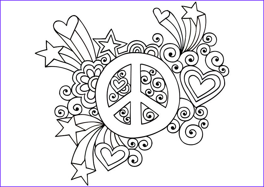 Peace Coloring Pages Cool Photos Simple and attractive Free Printable Peace Sign Coloring Pages