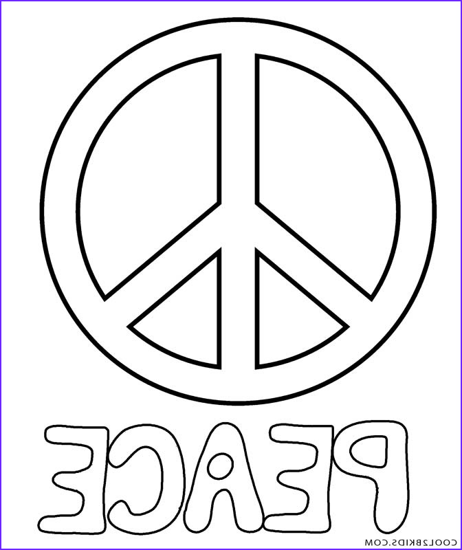 Peace Coloring Pages Luxury Gallery Free Printable Peace Sign Coloring Pages