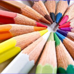 Pencil Coloring Awesome Collection Colored Pencil