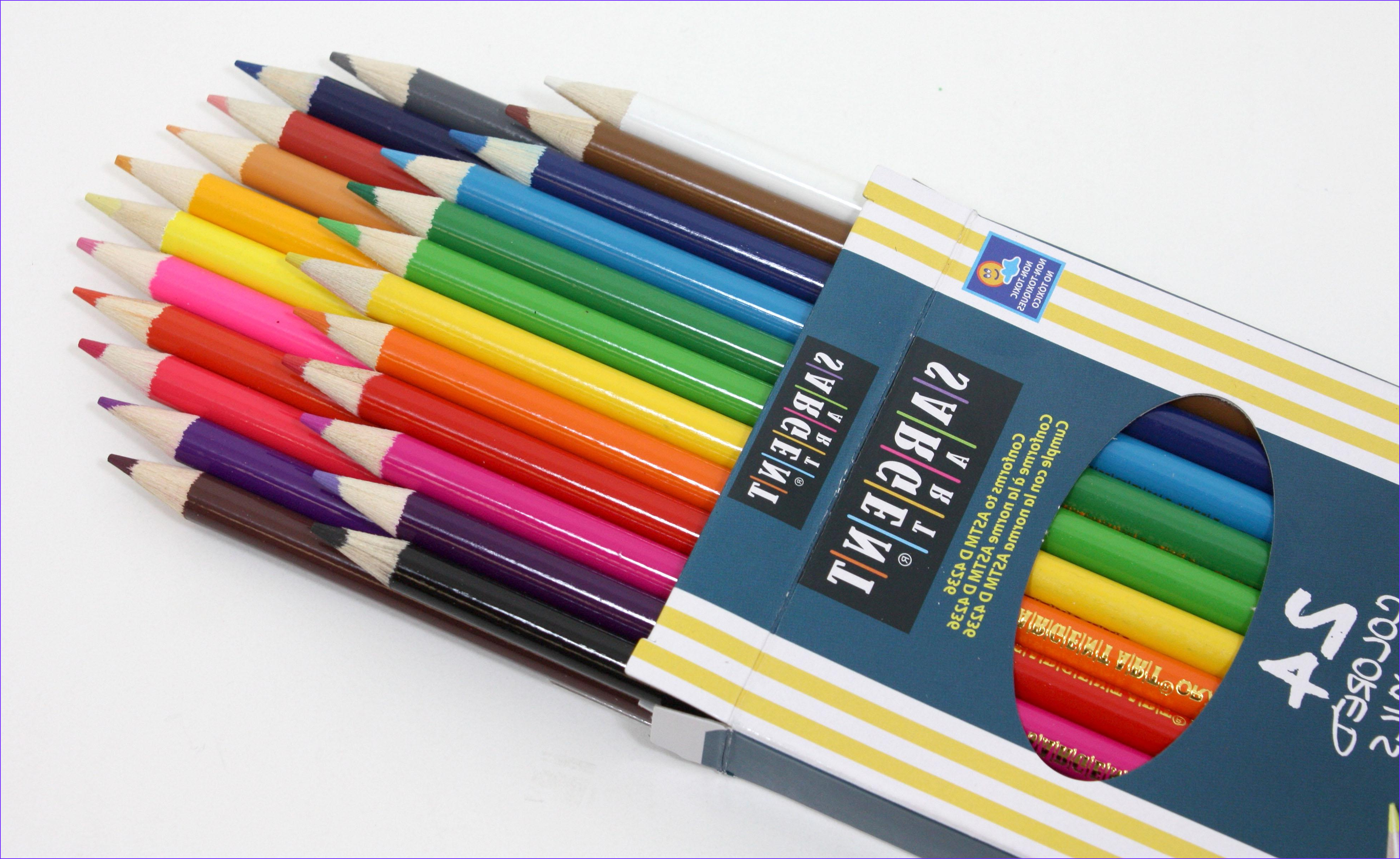 Pencil Coloring Inspirational Photos Amazon Sargent Art 22 7224 24 Count assorted Colored