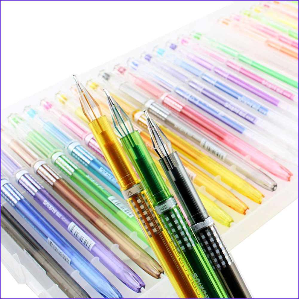 24 Coloring Gel Pens Adult Coloring Books Drawing Bible
