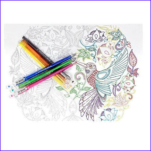 Pens for Adult Coloring Books Best Of Stock Tanmit Ultra Fine Point Color Gel Pens with Diamond Tip