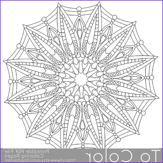Items similar to Detailed Printable Coloring Pages for