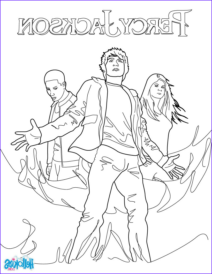 Percy Jackson Coloring Book Cool Collection Percy Annabeth Chase and Grover Underwood Coloring Pages