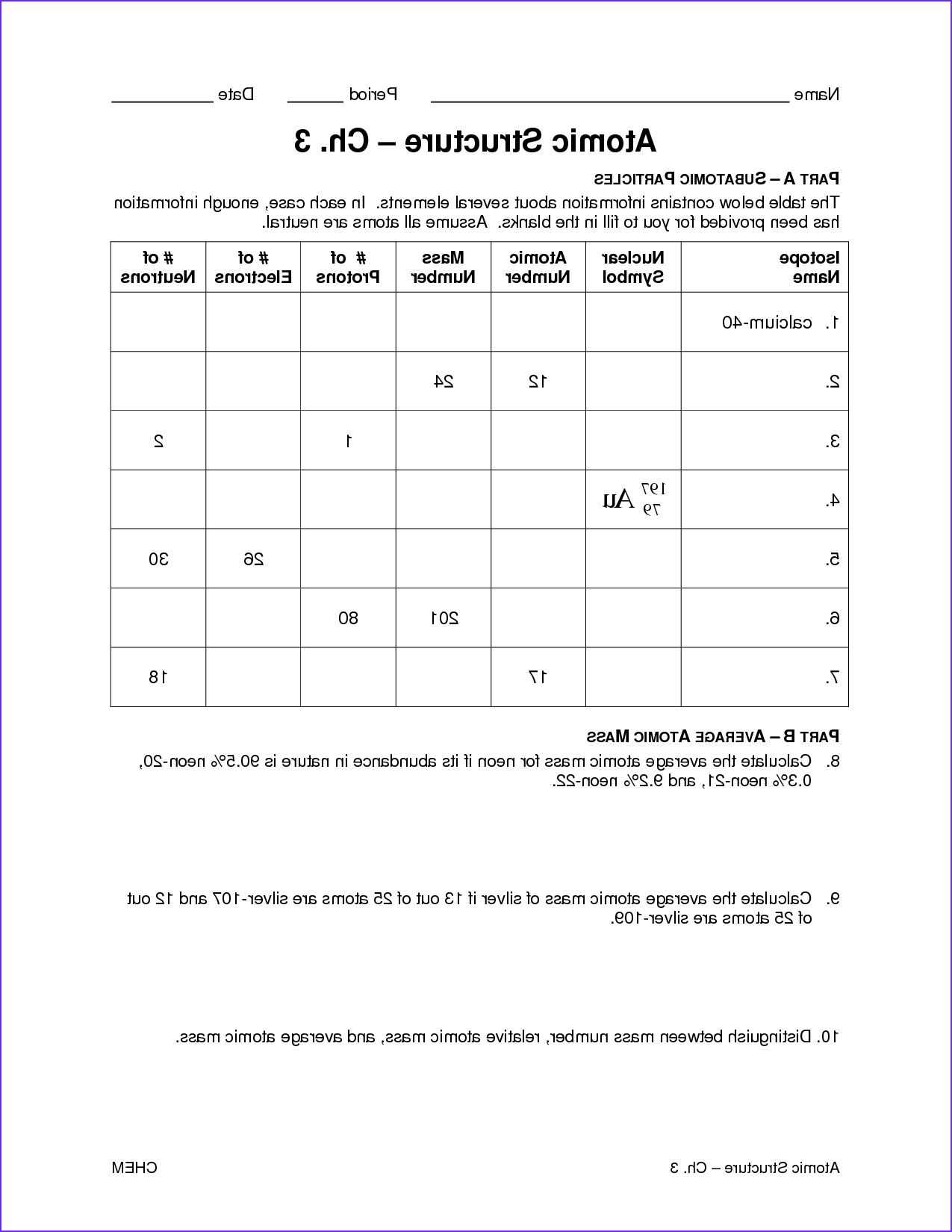 post periodic table worksheets pdf