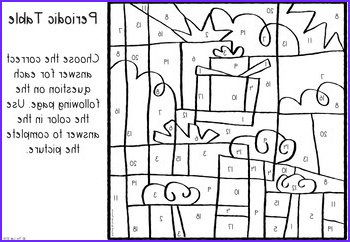 Periodic Table Coloring Activity New Collection Holiday themed Periodic Table Color by Number Activity by