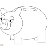 Piggy Coloring Beautiful Images Piggy Bank Coloring Page