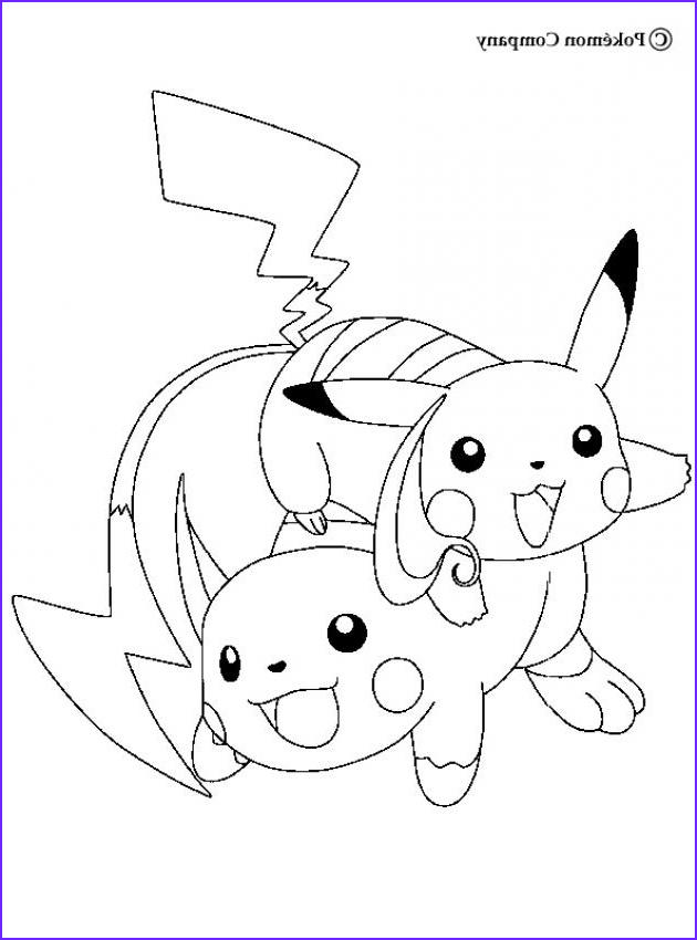 Pikachu Coloring Pages Best Of Images Raichu and Pikachu Coloring Pages Hellokids