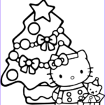 Printable Hello Kitty Coloring Pages Beautiful Collection Hello Kitty Christmas Coloring Page