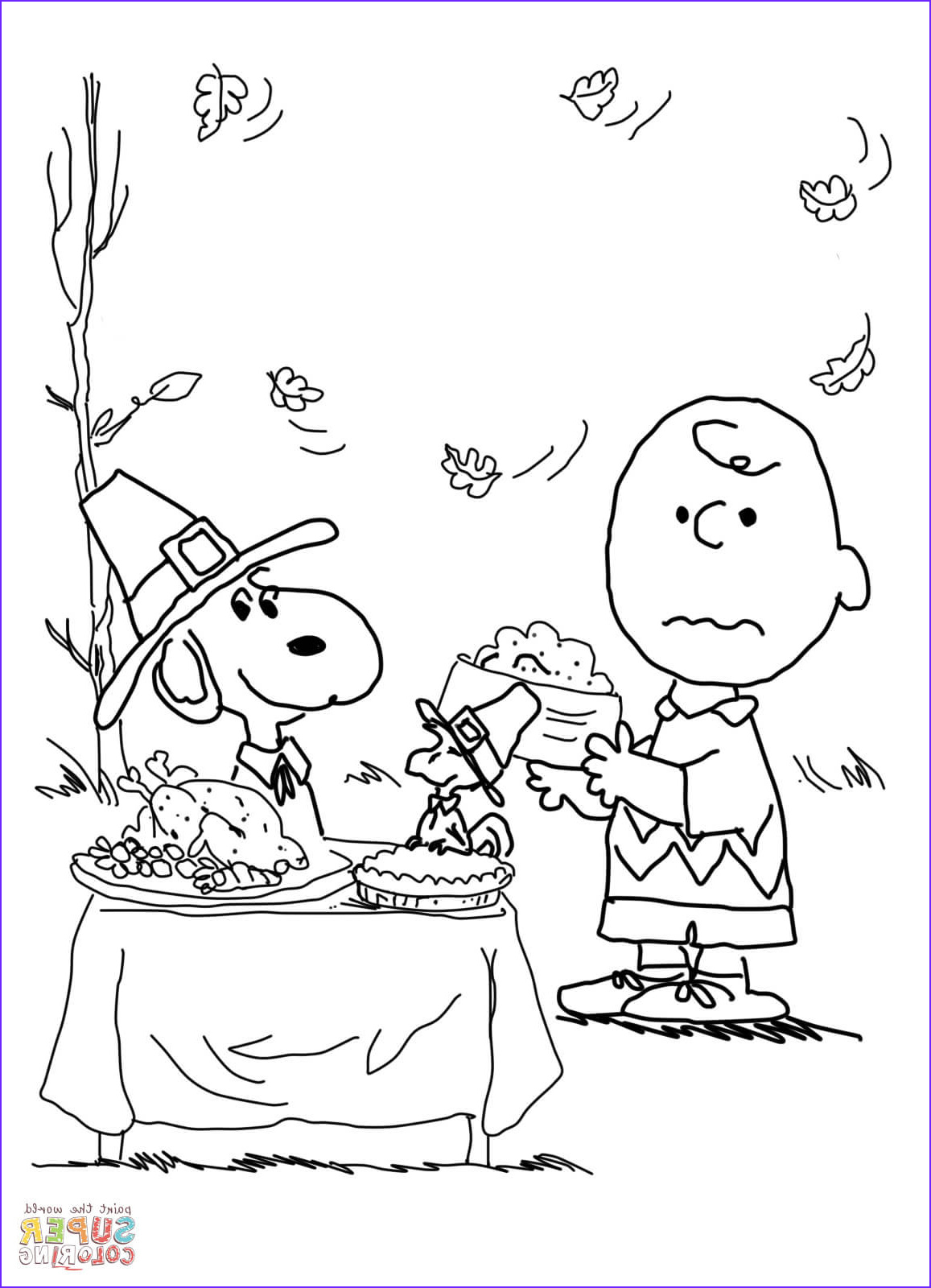 Printable Turkey Coloring Pages Unique Photography Charlie Brown Thanksgiving Coloring Page