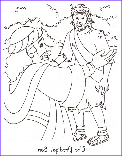 Prodical son Coloring Pages Inspirational Collection the Prodigal son Catholic Coloring Page