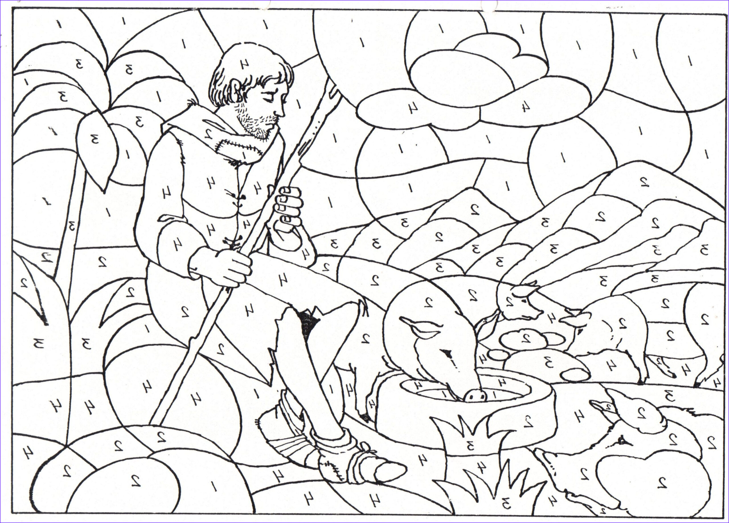 Prodical son Coloring Pages Luxury Collection Prodigal son Color by Number