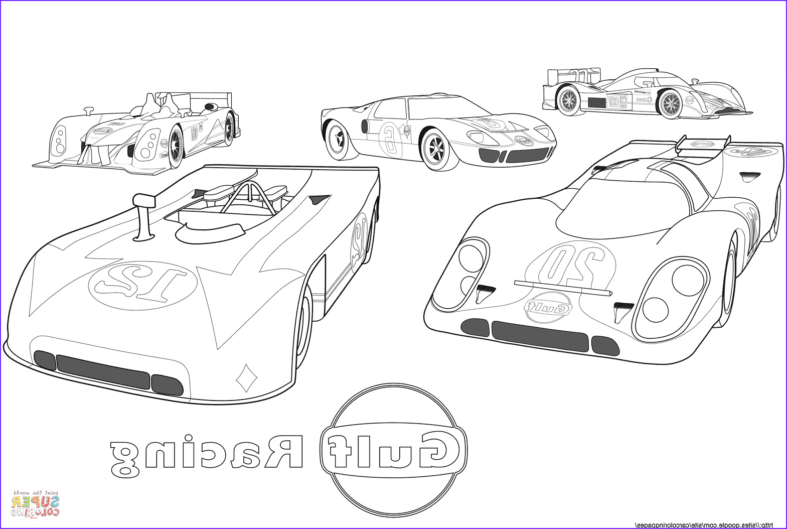 Race Car Coloring Sheets Elegant Images Gulf Racing Cars Coloring Page