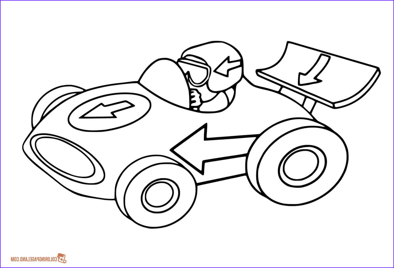Race Car Coloring Pages Free Printable