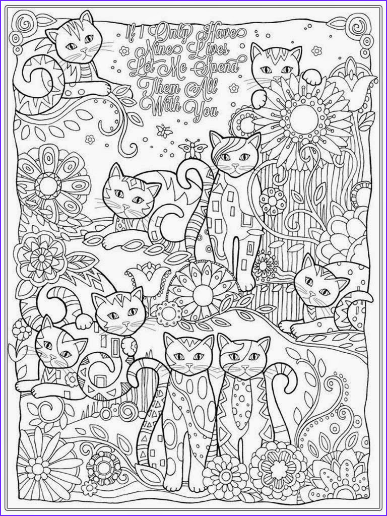 Realistic Cat Coloring Pages New Collection Cat Coloring Pages for Adult