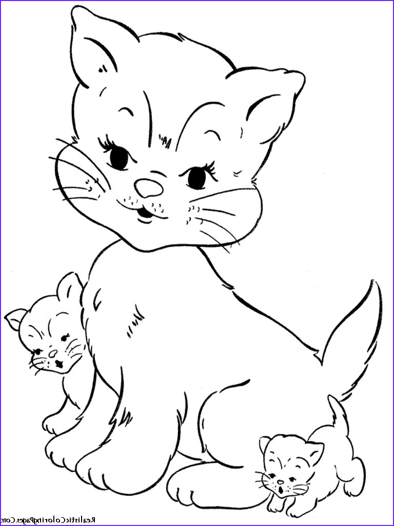 Realistic Cat Coloring Pages New Image Realistic Coloring Pages Cats