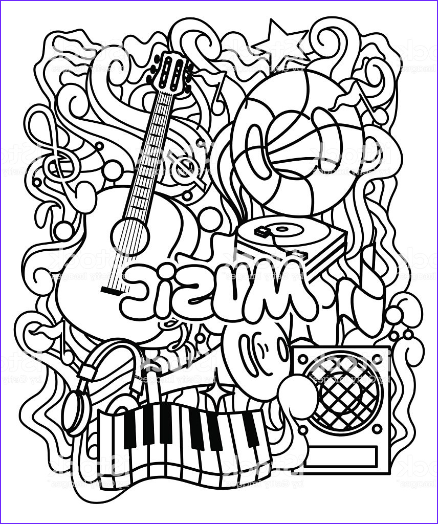 Relax Coloring Book Cool Photos Musical ornament for Coloring Page Relax Coloring Book