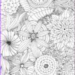 Relaxation Coloring Book Awesome Image Advanced Flower Coloring Pages 2 Kidspressmagazine