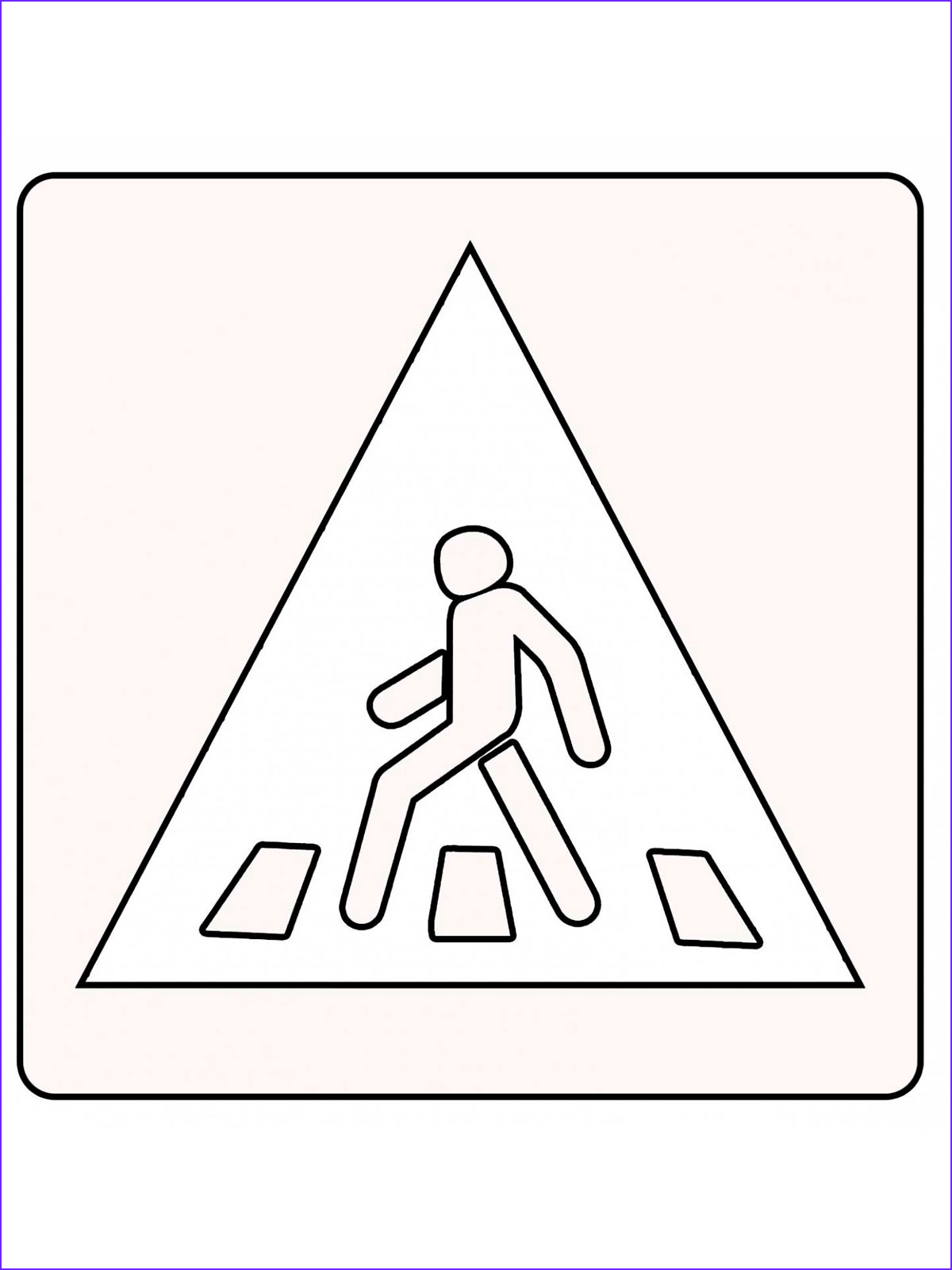 painting coloring road signs