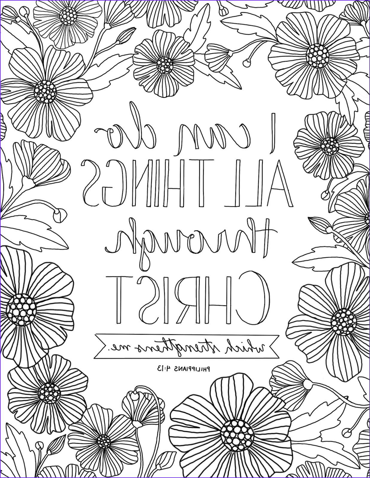 Scripture Coloring Pages for Adults Cool Images Just What I Squeeze In All Things Through Christ