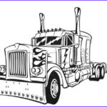 Semi Coloring Beautiful Images Optimus Prime Truck Colouring Pages To Print Online