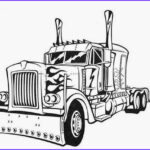 Semi Coloring Cool Collection Coloring Pages Transformers Optimus Prime Printable