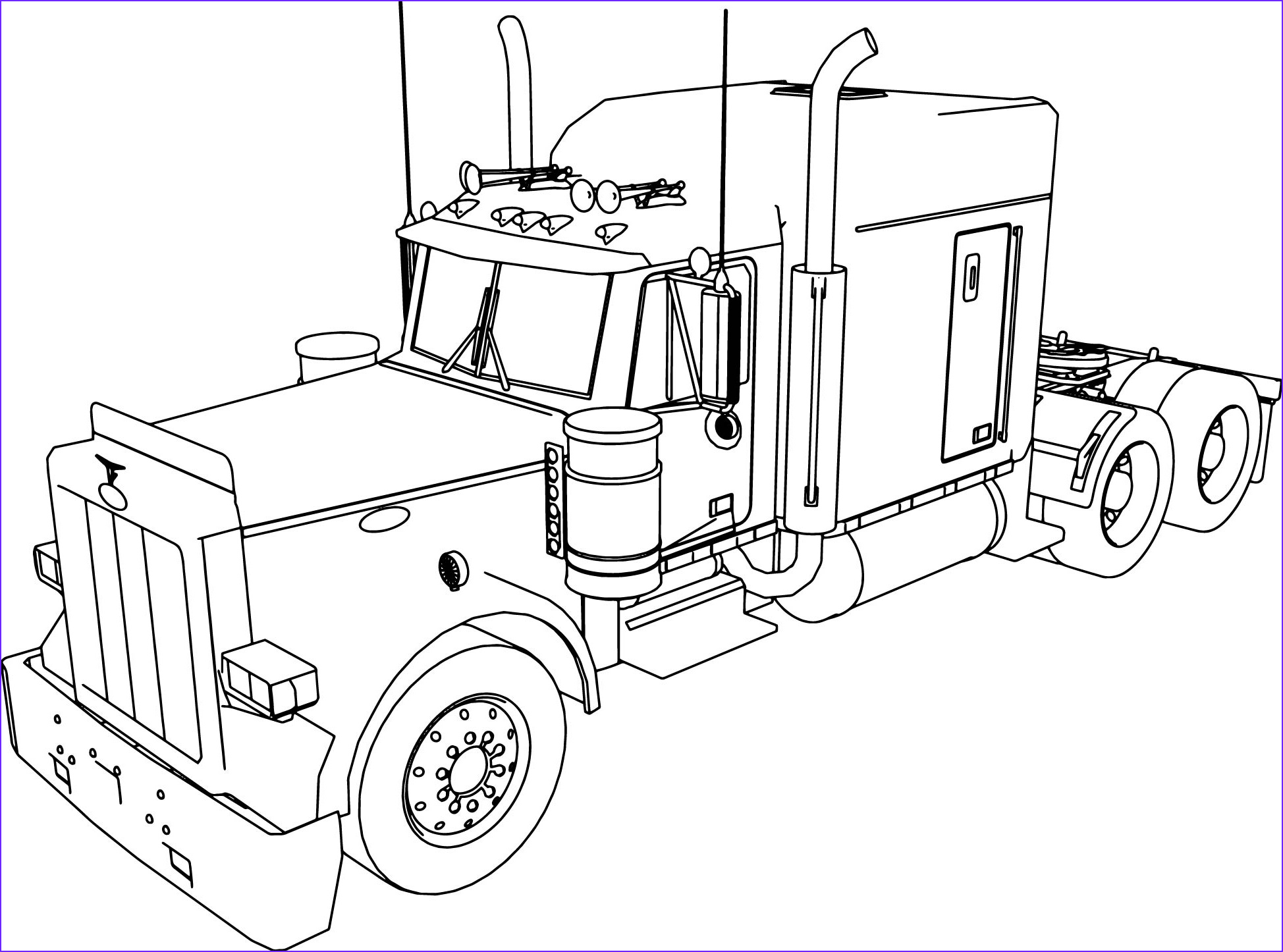 Semi Truck Outline Drawing at GetDrawings