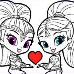 Shimmer And Shine Coloring Pages Luxury Collection Shimmer And Shine Coloring Pages