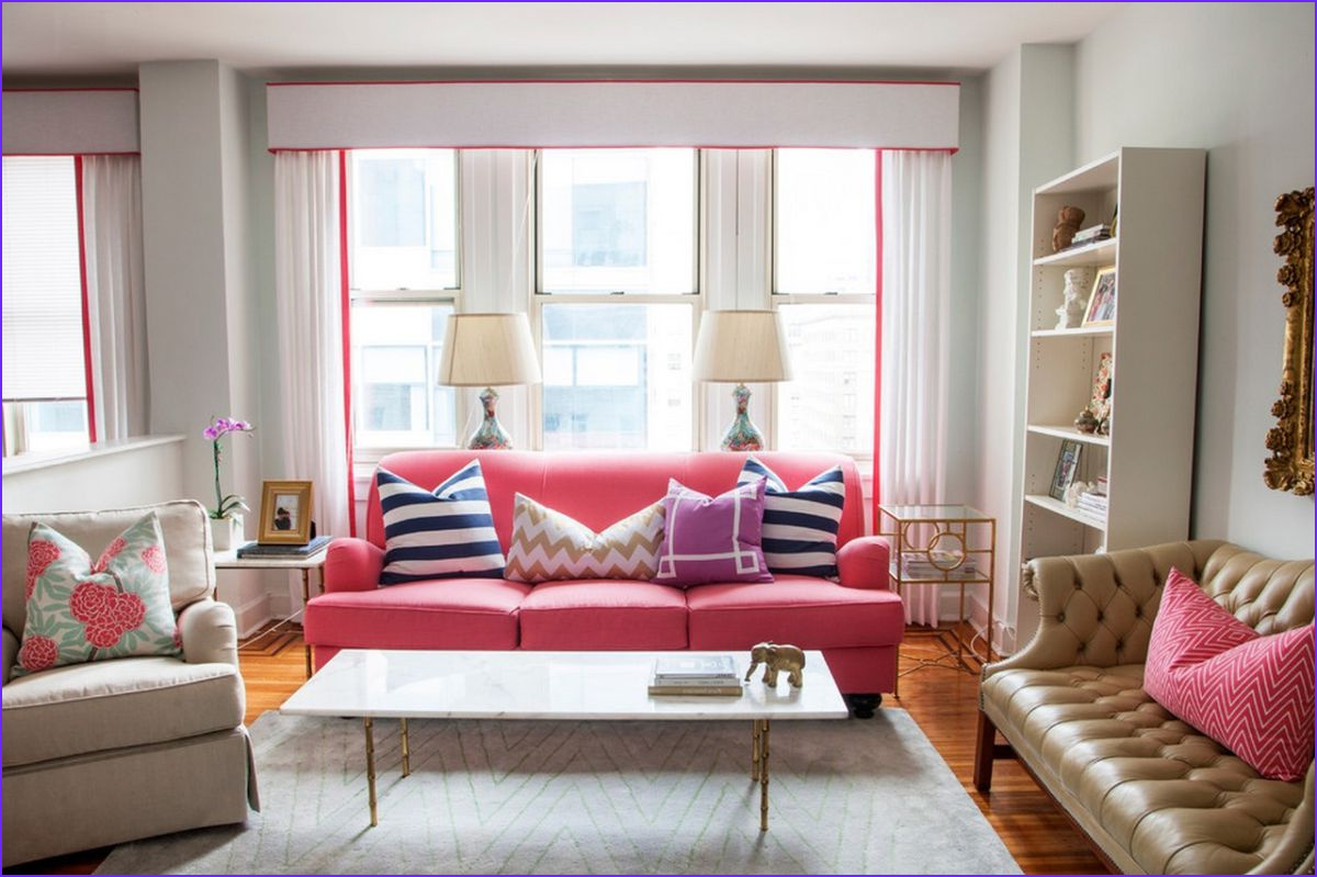 Pink Sofas An Unexpected Touch Color In The Living Room