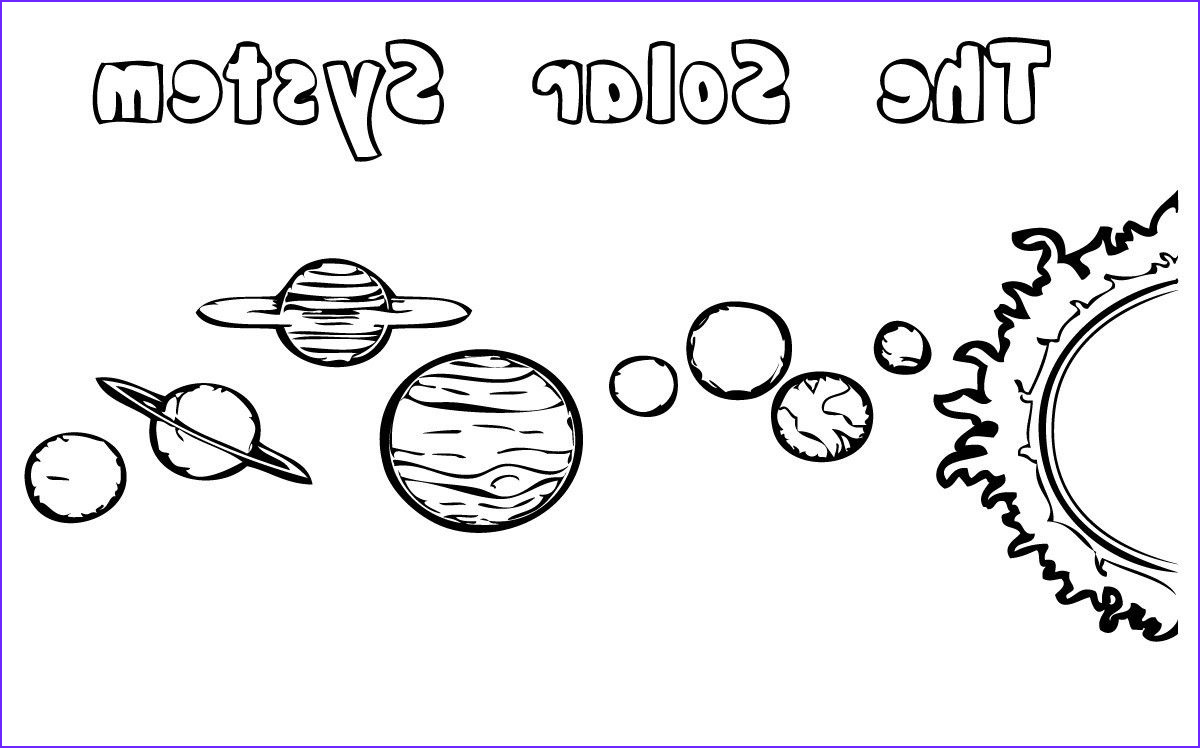 Solar System Coloring Pages coloringsuite