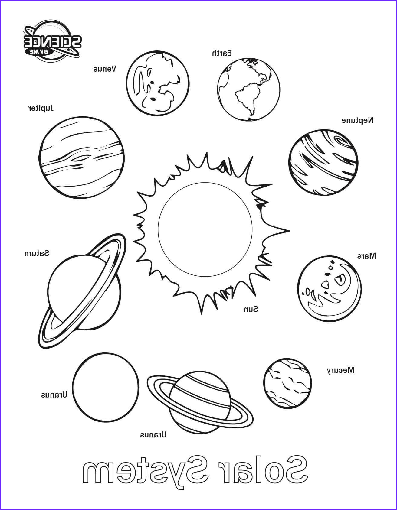 Solar System Coloring Pages Printable Archives For Solar