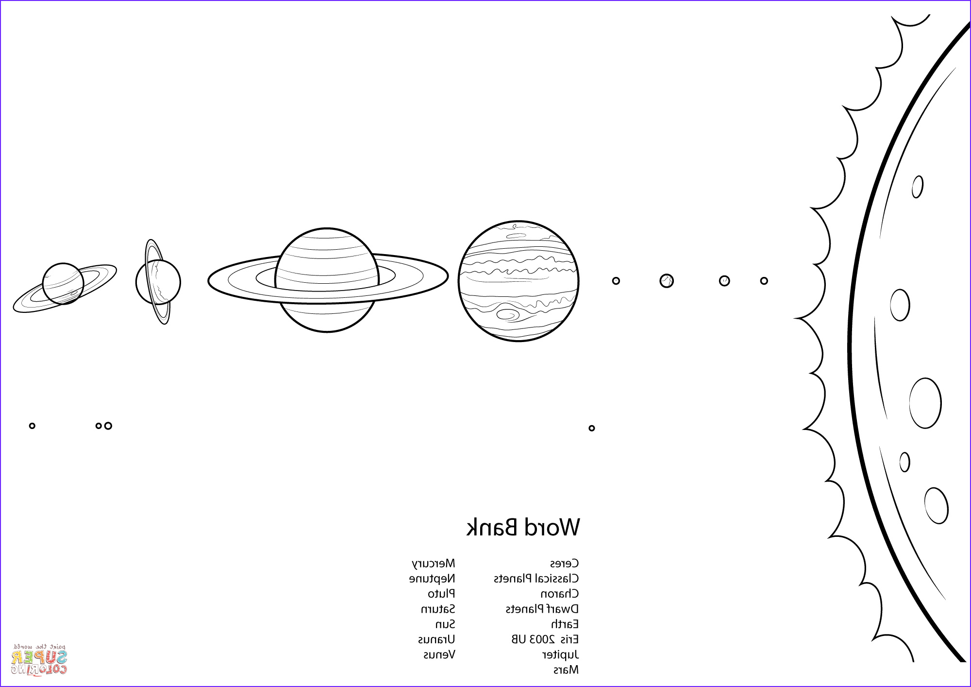 Solar System Coloring Best Of Gallery solar System Worksheet Coloring Page