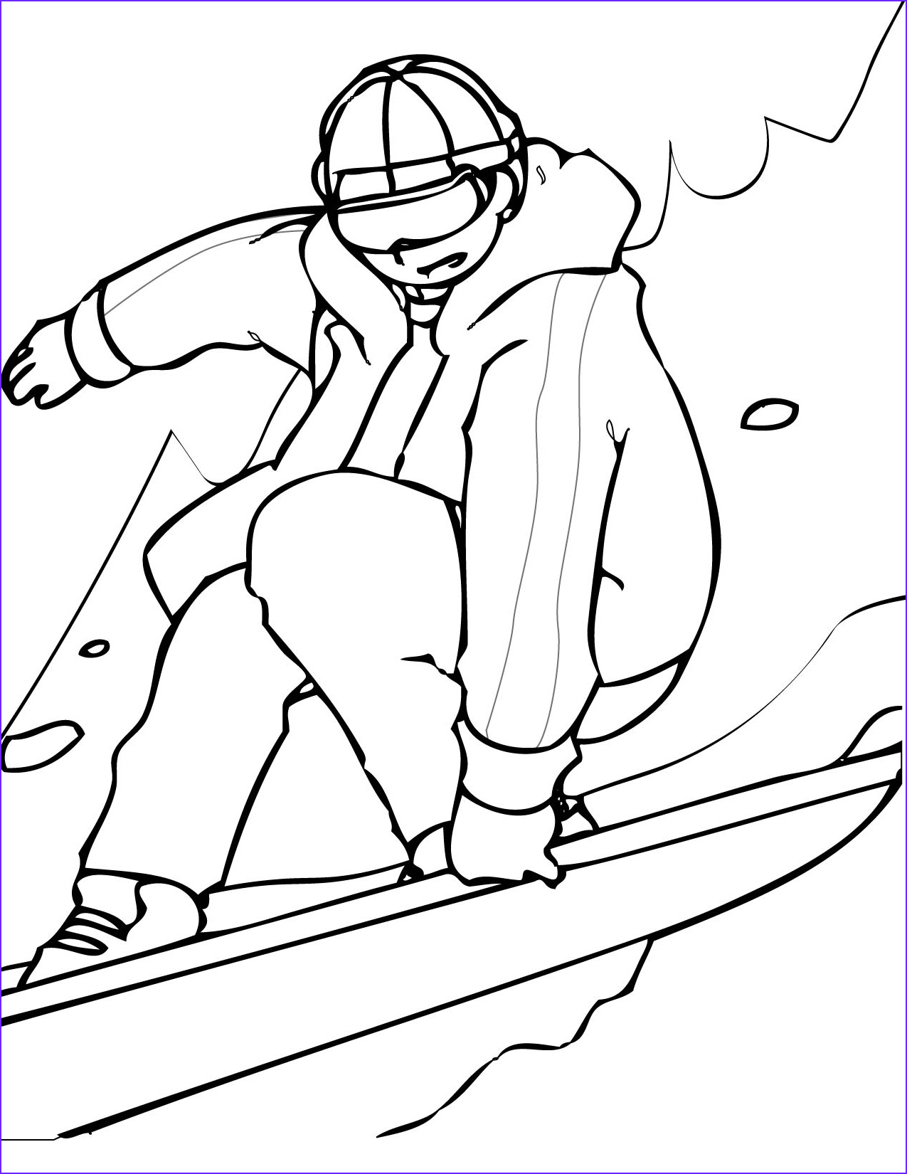 Sports Coloring Book Beautiful Collection Sports Coloring Pages Snowboarding Coloringstar