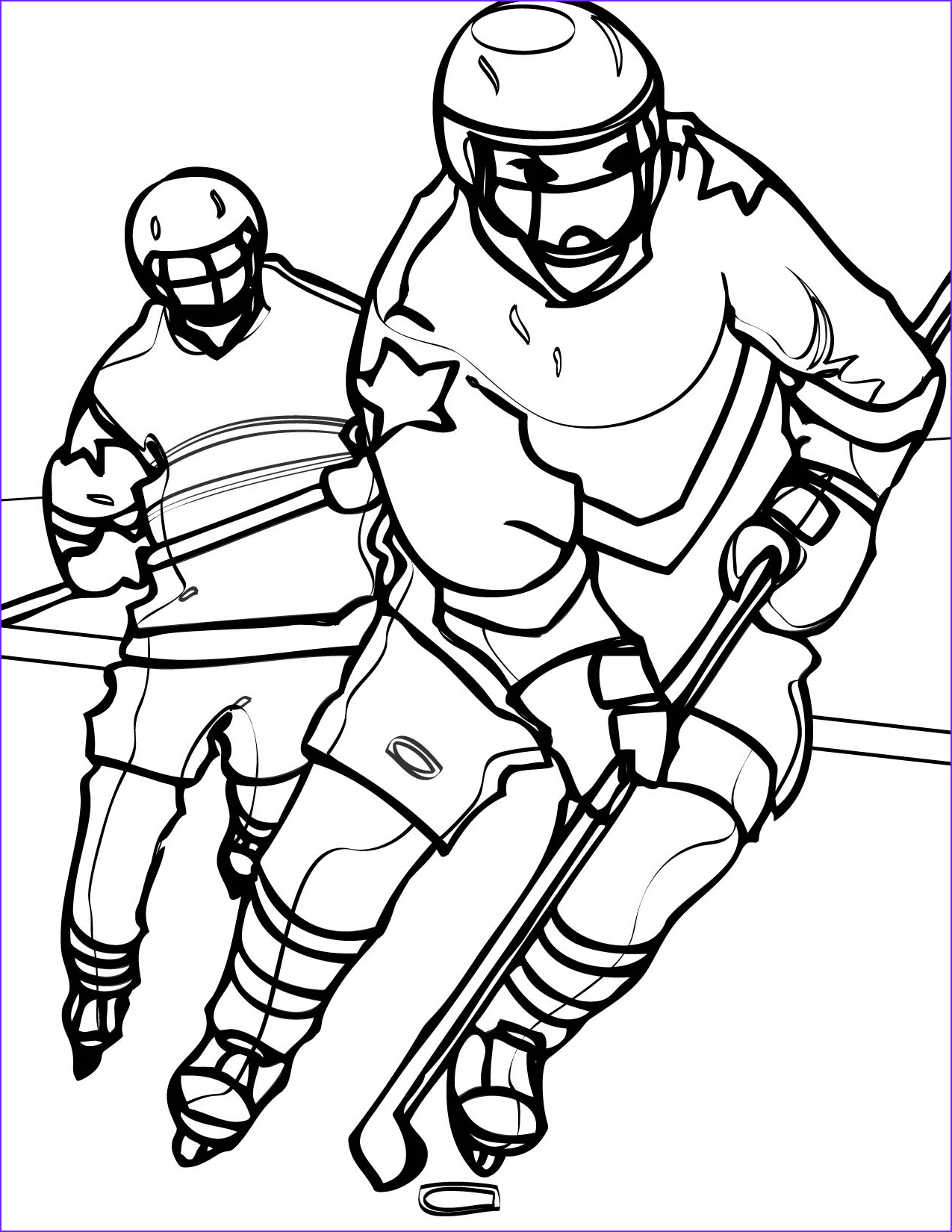 Sports coloring pages hockey ColoringStar