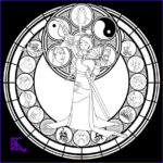 Stain Glass Coloring Awesome Photography Mulan Stained Glass Line Art By Akili Amethyst On