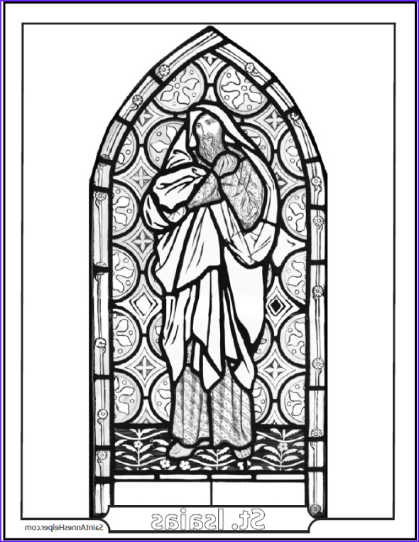 21 Stained Glass Coloring Pages Church Window Printables