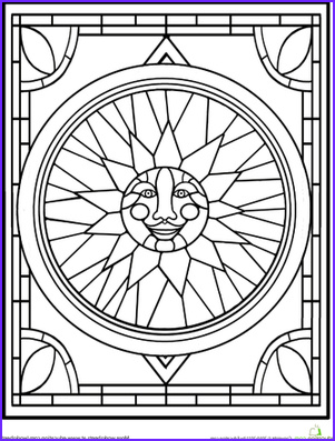 Stained Glass Coloring Book New Photos Worksheets