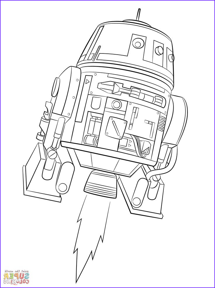 Star Wars Rebels Chopper coloring page