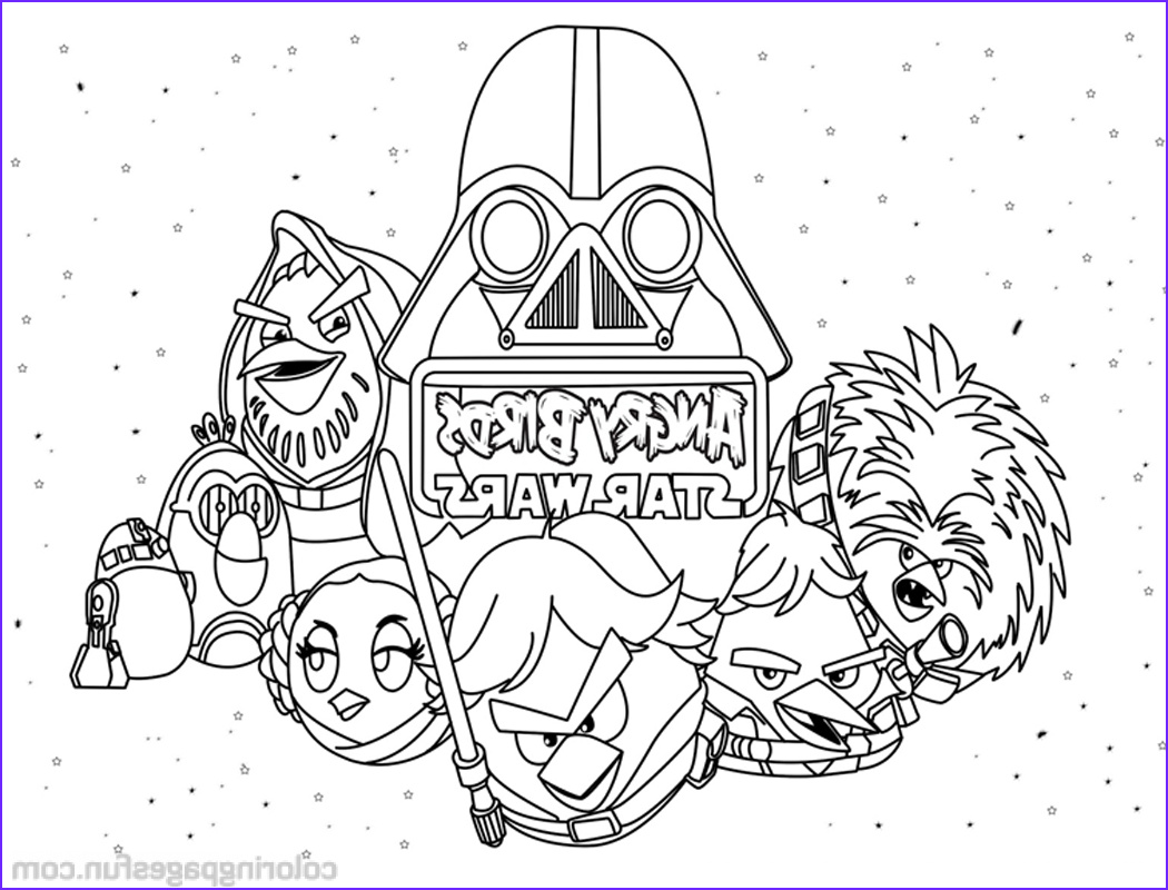 Star Wars Coloring Best Of Photos Angry Birds Star Wars Coloring Pages