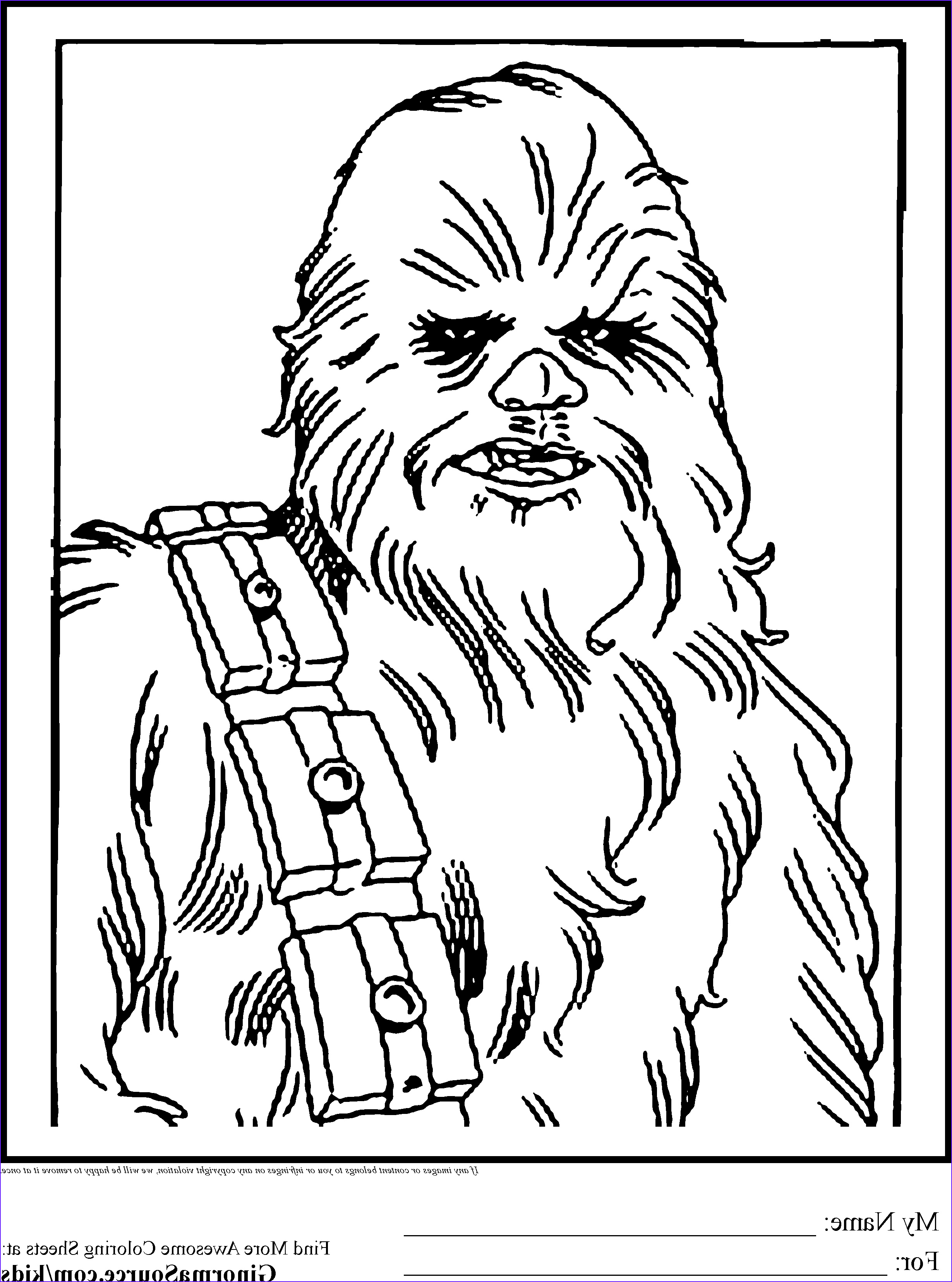 Star Wars Coloring Luxury Stock Star Wars Colouring Pages Chewbacca Wookie