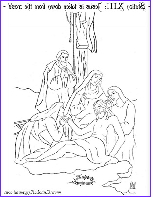 The Stations of the Cross in coloring pages – Catholic